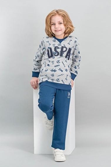 U.S. Polo Assn. Lisanslı Erkek Çocuk Eşofman Takımı Gri